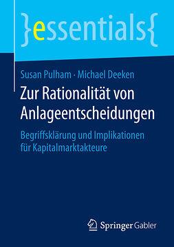 Deeken, Michael - Zur Rationalität von Anlageentscheidungen, ebook