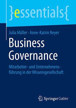 Müller, Julia - Business Governance, e-kirja