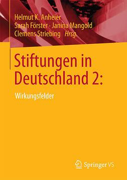 Anheier, Helmut K. - Stiftungen in Deutschland 2:, ebook