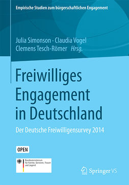 Simonson, Julia - Freiwilliges Engagement in Deutschland, ebook