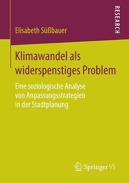 Süßbauer, Elisabeth - Klimawandel als widerspenstiges Problem, ebook