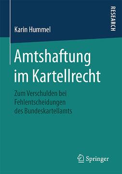 Hummel, Karin - Amtshaftung im Kartellrecht, ebook