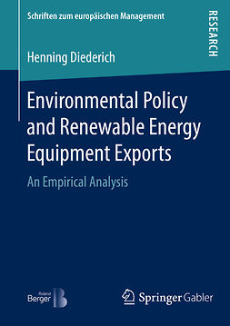 Diederich, Henning - Environmental Policy and Renewable Energy Equipment Exports, ebook