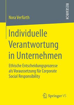 Verfürth, Nora - Individuelle Verantwortung in Unternehmen, ebook