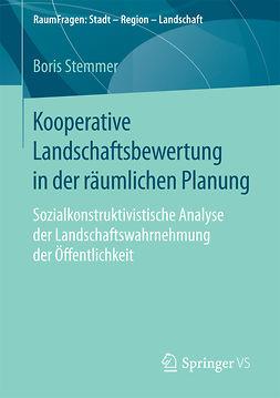 Stemmer, Boris - Kooperative Landschaftsbewertung in der räumlichen Planung, ebook