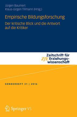 Baumert, Jürgen - Empirische Bildungsforschung, ebook