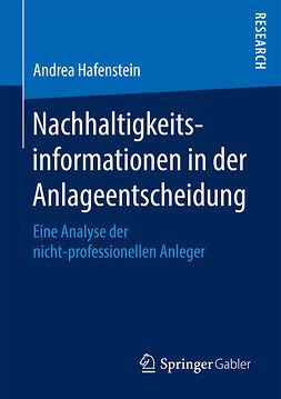 Hafenstein, Andrea - Nachhaltigkeitsinformationen in der Anlageentscheidung, ebook