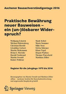 Eckrich, Wolfgang - Aachener Bausachverständigentage 2016, ebook