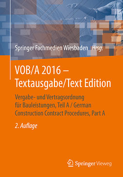 - VOB/A 2016 - Textausgabe/Text Edition, ebook