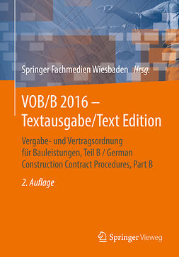 - VOB/B 2016 - Textausgabe/Text Edition, ebook
