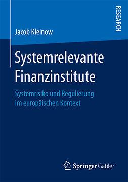 Kleinow, Jacob - Systemrelevante Finanzinstitute, ebook