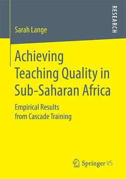 Lange, Sarah - Achieving Teaching Quality in Sub-Saharan Africa, ebook