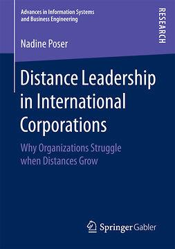 Poser, Nadine - Distance Leadership in International Corporations, ebook