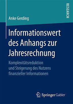 Gerding, Anke - Informationswert des Anhangs zur Jahresrechnung, ebook