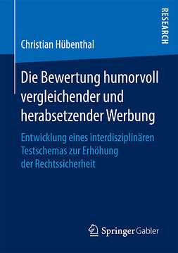 Hübenthal, Christian - Die Bewertung humorvoll vergleichender und herabsetzender Werbung, ebook