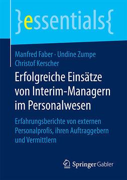 Faber, Manfred - Erfolgreiche Einsätze von Interim-Managern im Personalwesen, ebook