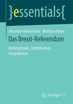Niedermeier, Alexander - Das Brexit-Referendum, e-kirja