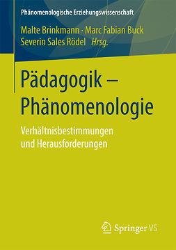 Brinkmann, Malte - Pädagogik - Phänomenologie, ebook