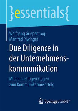 Griepentrog, Wolfgang - Due Diligence in der Unternehmenskommunikation, ebook