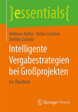 Agthe, Volkmar - Intelligente Vergabestrategien bei Großprojekten, ebook