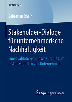Rhein, Sebastian - Stakeholder-Dialoge für unternehmerische Nachhaltigkeit, ebook
