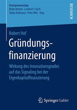 Hof, Robert - Gründungsfinanzierung, ebook
