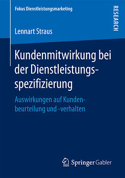 Straus, Lennart - Kundenmitwirkung bei der Dienstleistungsspezifizierung, ebook