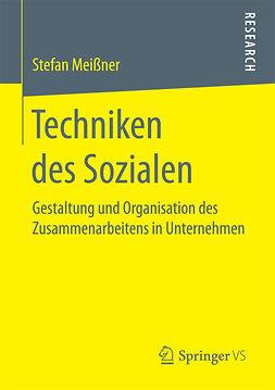 Meißner, Stefan - Techniken des Sozialen, ebook