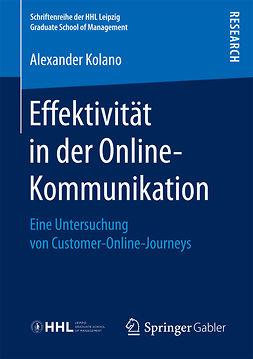Kolano, Alexander - Effektivität in der Online-Kommunikation, ebook