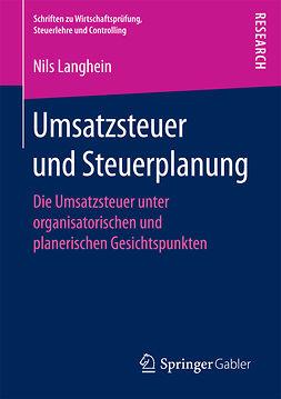Langhein, Dr. Nils - Umsatzsteuer und Steuerplanung, ebook