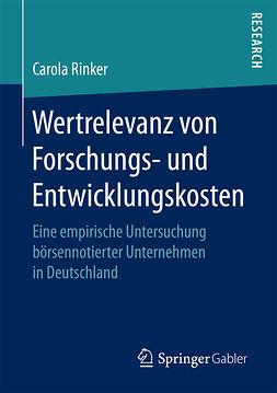 Rinker, Carola - Wertrelevanz von Forschungs- und Entwicklungskosten, ebook