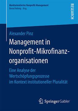 Pinz, Alexander - Management in Nonprofit-Mikrofinanzorganisationen, ebook