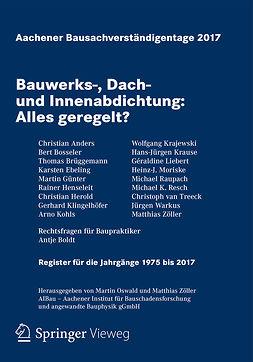 Oswald, Martin - Aachener Bausachverständigentage 2017, ebook