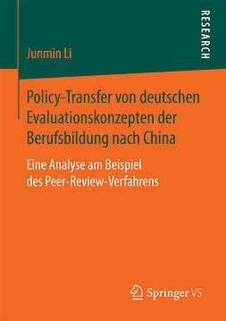 Li, Junmin - Policy-Transfer von deutschen Evaluationskonzepten der Berufsbildung nach China, ebook