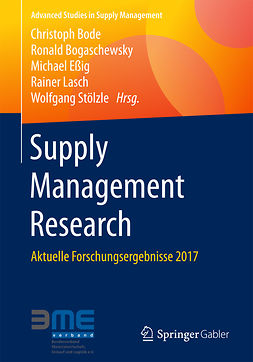 Bode, Christoph - Supply Management Research, ebook