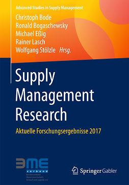 Bode, Christoph - Supply Management Research, e-kirja