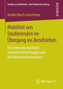 Busch-Geertsema, Annika - Mobilität von Studierenden im Übergang ins Berufsleben, ebook