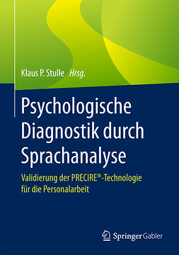 Stulle, Klaus P. - Psychologische Diagnostik durch Sprachanalyse, e-bok