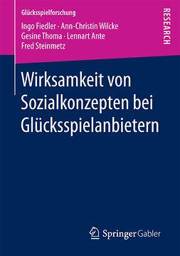 Ante, Lennart - Wirksamkeit von Sozialkonzepten bei Glücksspielanbietern, ebook