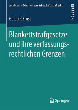 Ernst, Guido P. - Blankettstrafgesetze und ihre verfassungsrechtlichen Grenzen, ebook