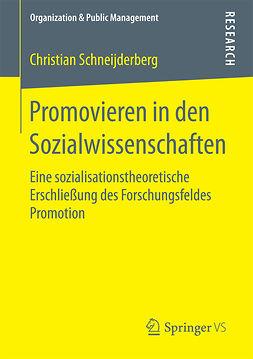 Schneijderberg, Christian - Promovieren in den Sozialwissenschaften, ebook