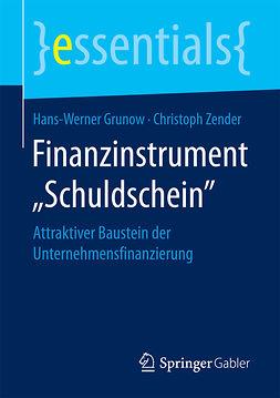 """Grunow, Hans-Werner - Finanzinstrument """"Schuldschein"""", ebook"""