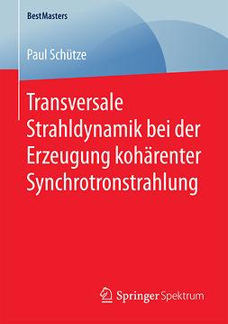 Schütze, Paul - Transversale Strahldynamik bei der Erzeugung kohärenter Synchrotronstrahlung, ebook