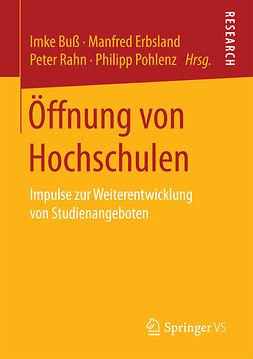 Buß, Imke - Öffnung von Hochschulen, ebook