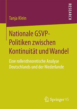 Klein, Tanja - Nationale GSVP-Politiken zwischen Kontinuität und Wandel, ebook