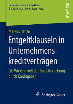 Henze, Markus - Entgeltklauseln in Unternehmenskreditverträgen, ebook