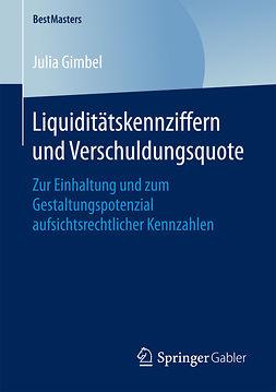 Gimbel, Julia - Liquiditätskennziffern und Verschuldungsquote, ebook