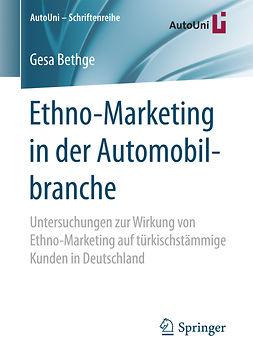 Bethge, Gesa - Ethno-Marketing in der Automobilbranche, e-bok