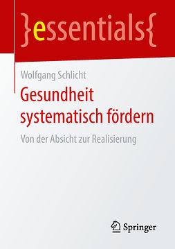 Schlicht, Wolfgang - Gesundheit systematisch fördern, ebook