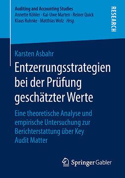 Asbahr, Karsten - Entzerrungsstrategien bei der Prüfung geschätzter Werte, ebook
